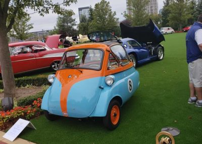 This is a photo of a BMW Isetta at the Boston Cup 2020 Car Show in Everett, MA.