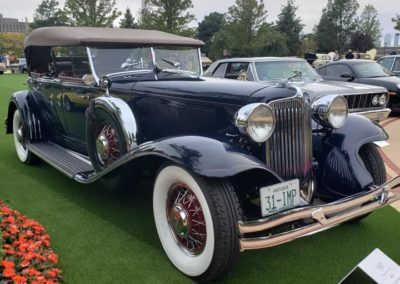 This is a photo of a beautiful example of a 1931 Chrysler Imperial displayed at the Boston Cup 2020 Car Show in Everett, MA.