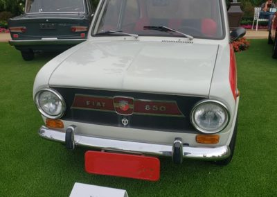 This is a Fiat 850 Abarth in immaculate condition with no cosmetic damage and low miles, shown at the Boston Cup 2020 Car Show in Everett, MA.